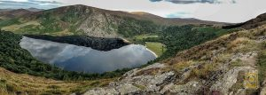 Ireland Rental Car Insurance: Lough Tay in the Wicklow Mountains, Ireland