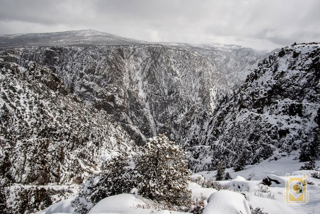 A view from the rim of the Black Canyon of the Gunnison National Park in Colorado