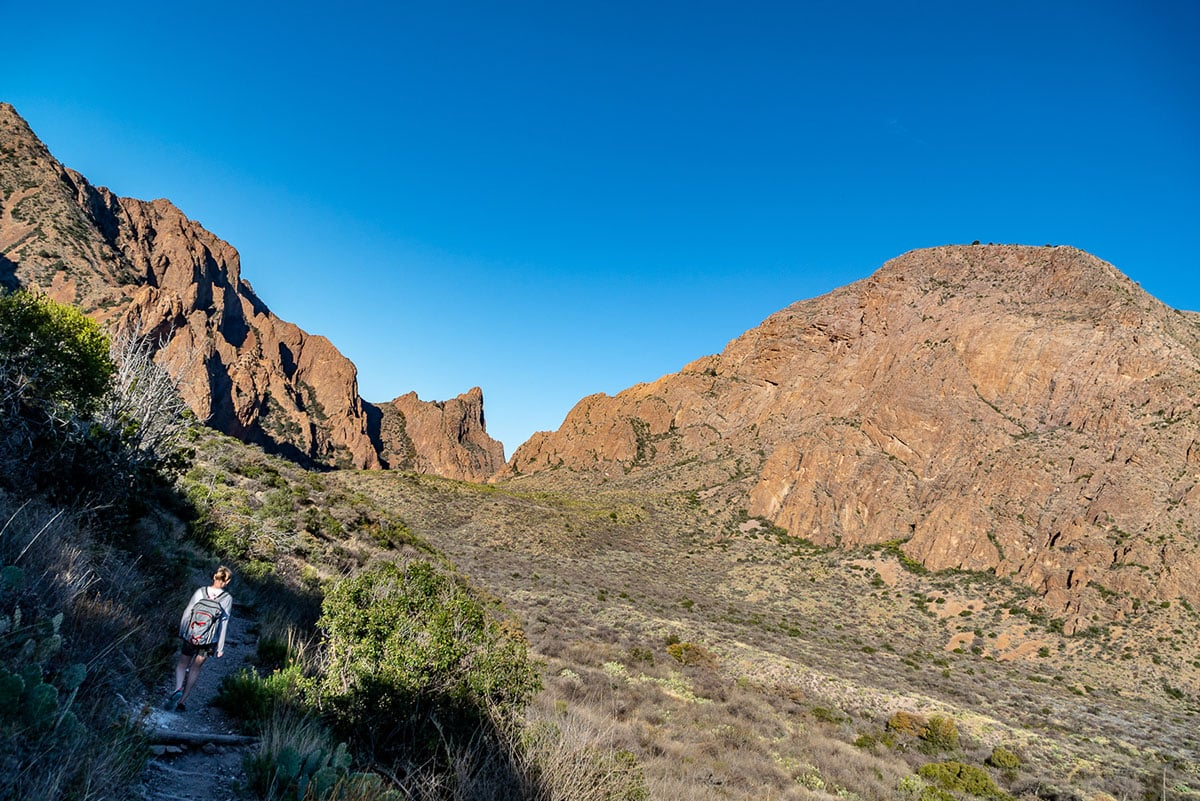 Things to do in Big Bend: go for a hike in the Chisos Basin. The Window Trail is full of amazing views.
