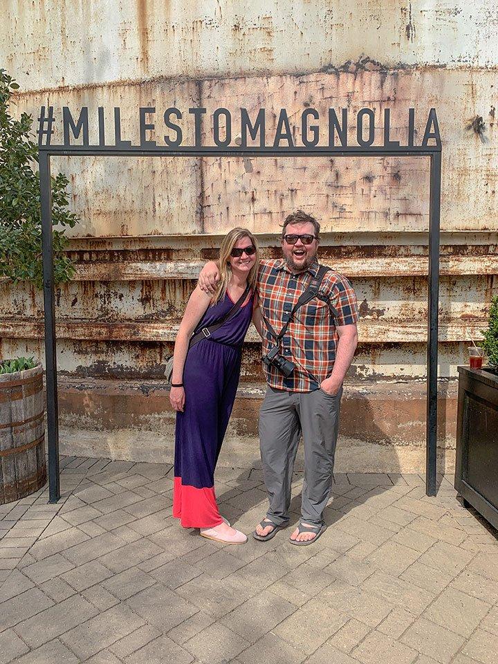 Visiting Magnolia Market: #miles to magnolia sign