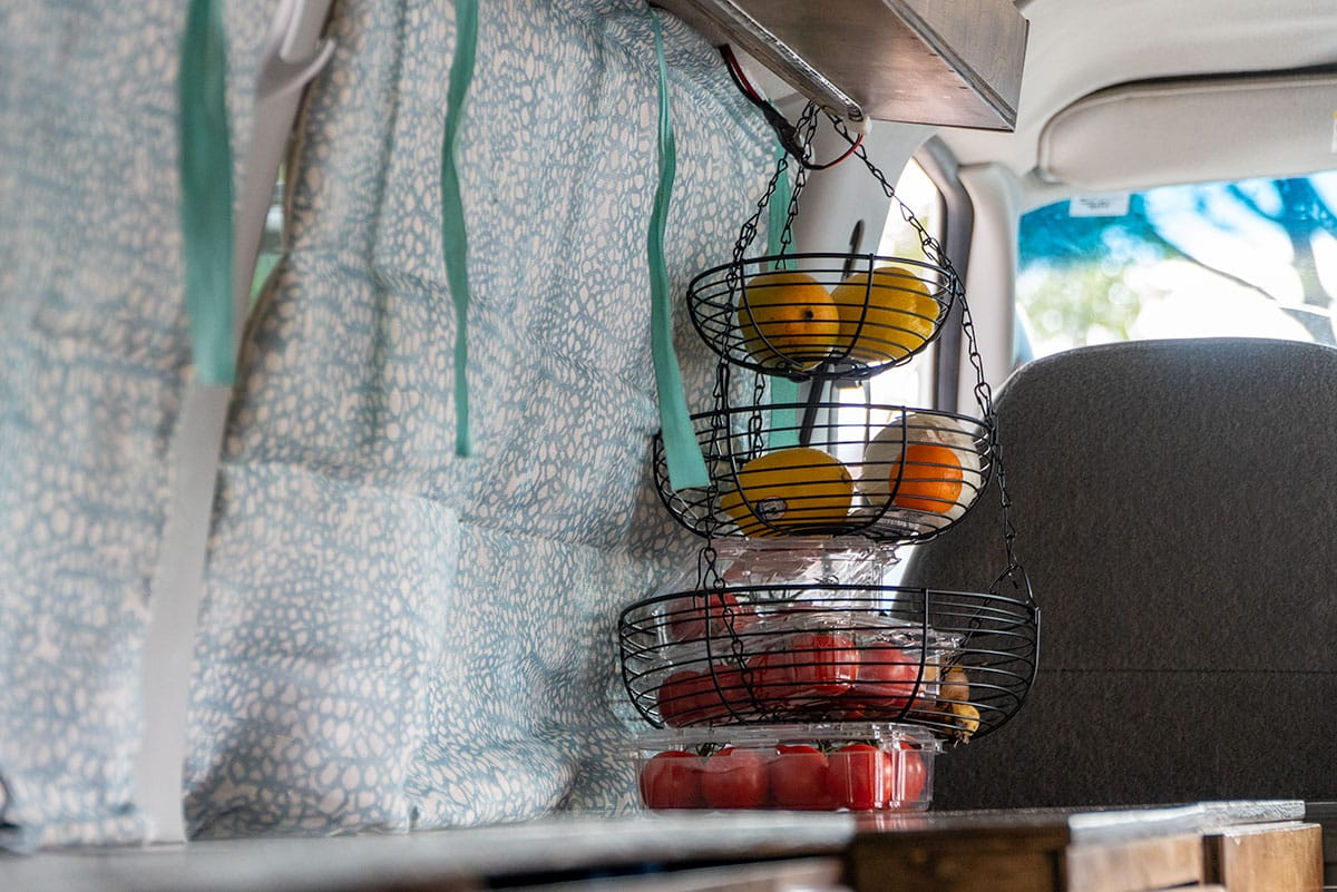 van life accessories: Kitchen Hanging Basket