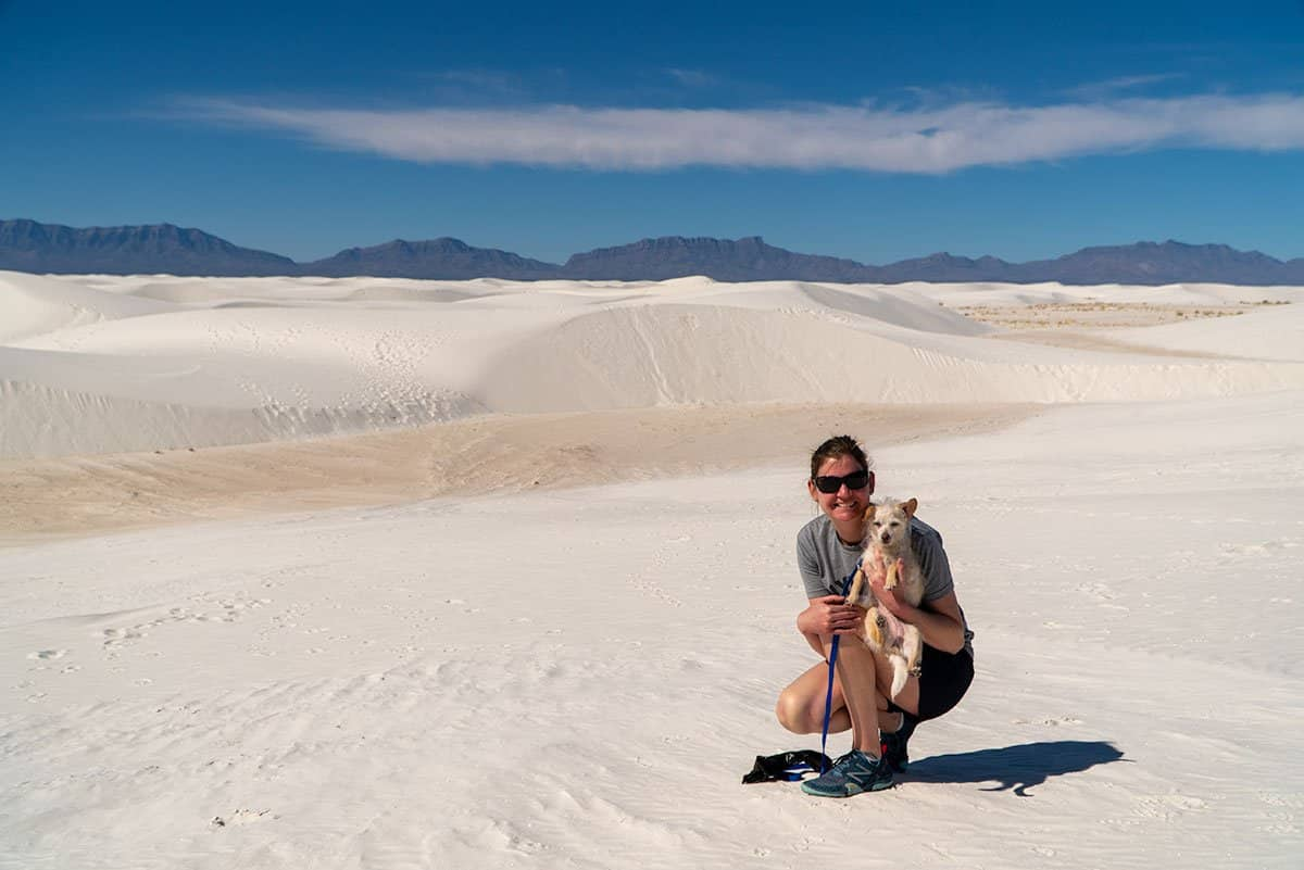 Visiting White Sands: Tiffany and Penny Posing