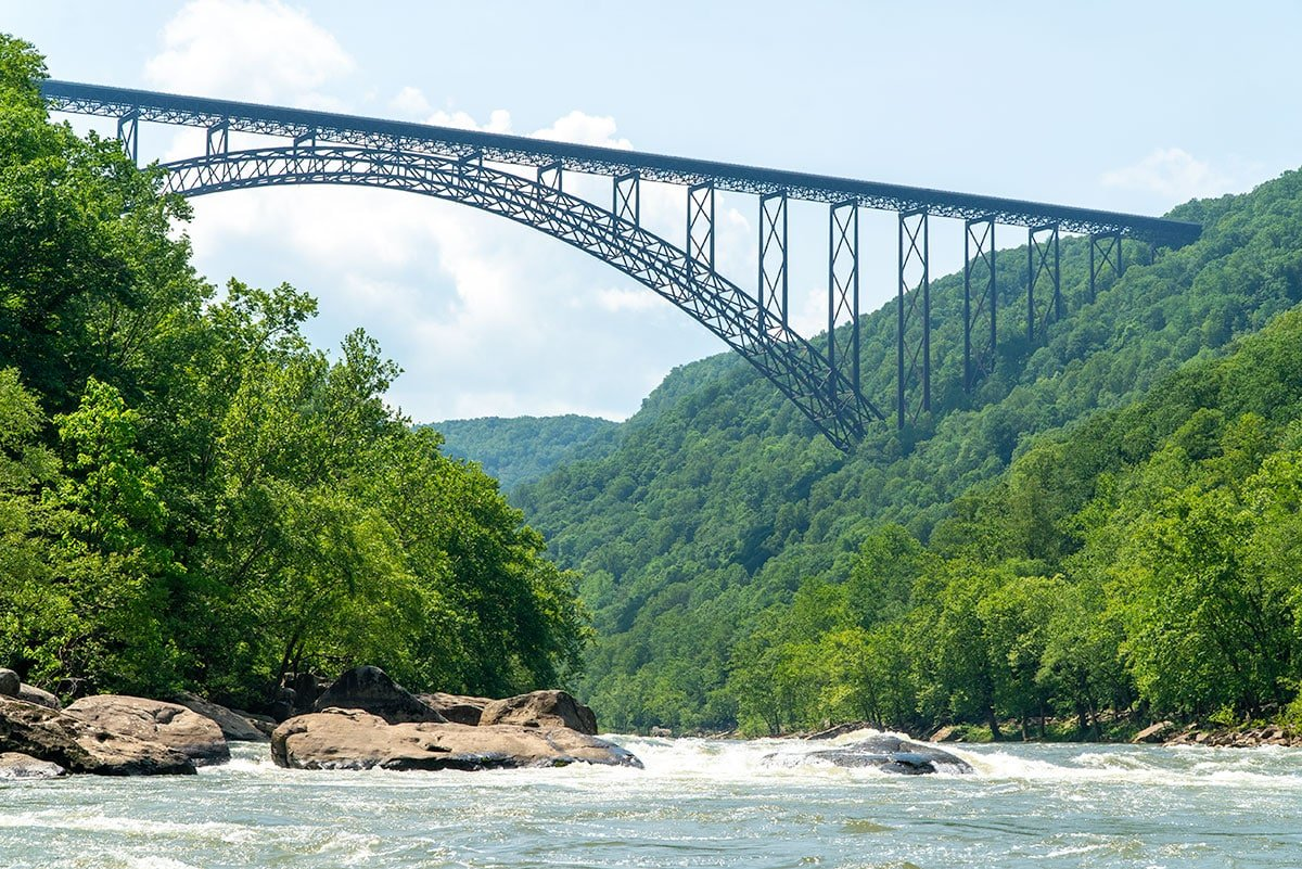 Definitive Guide to the New River Gorge: View from Jet Boat